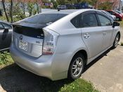 back photo of car ZVW30 - 2009 Toyota PRIUS  - SILVER