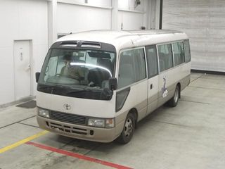 front photo of car HDB50 - 1999 Toyota Coaster マイクロバス - custom