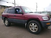 front photo of car SXA11 - 1995 Toyota RAV4  - RED